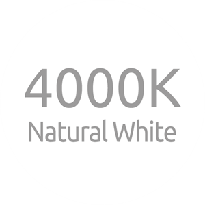 4000K Natural White LED Colour Temperature
