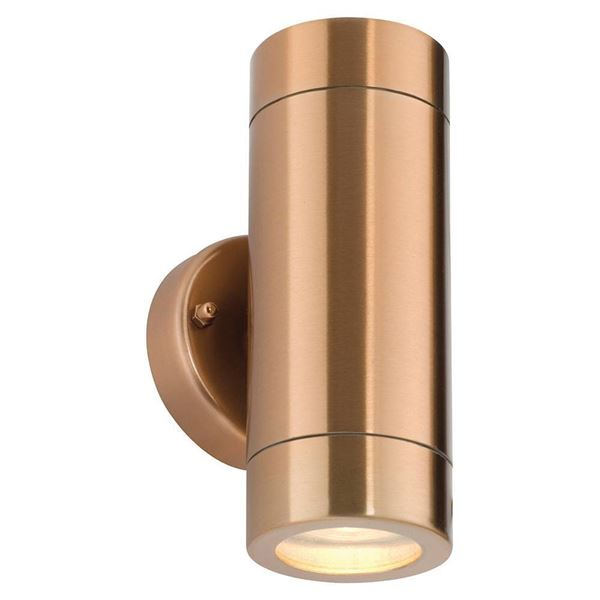 Twin Wall Light Stainless - Copper