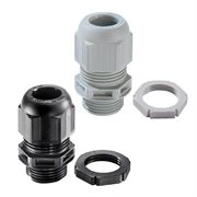 Black and Grey Wiska Cable Glands with Locknut M12