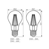 DIXI FILLED E27 LED Bulb Technical Drawing