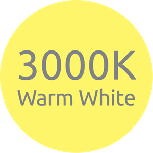 LED 3000K Warm White Colour Temperature