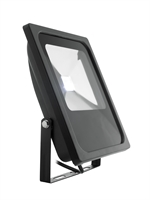 30W Black RGB LED Floodlight with memory function (White)