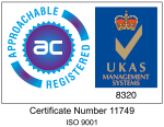 Vision Lighting Ltd ISO 9001:2015 Certified and UKAS accredited Quality Management System.